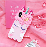 Cute Cartoon Unicorn 3D Case