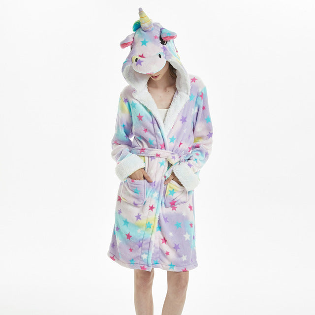 Unicorn Hooded Robe
