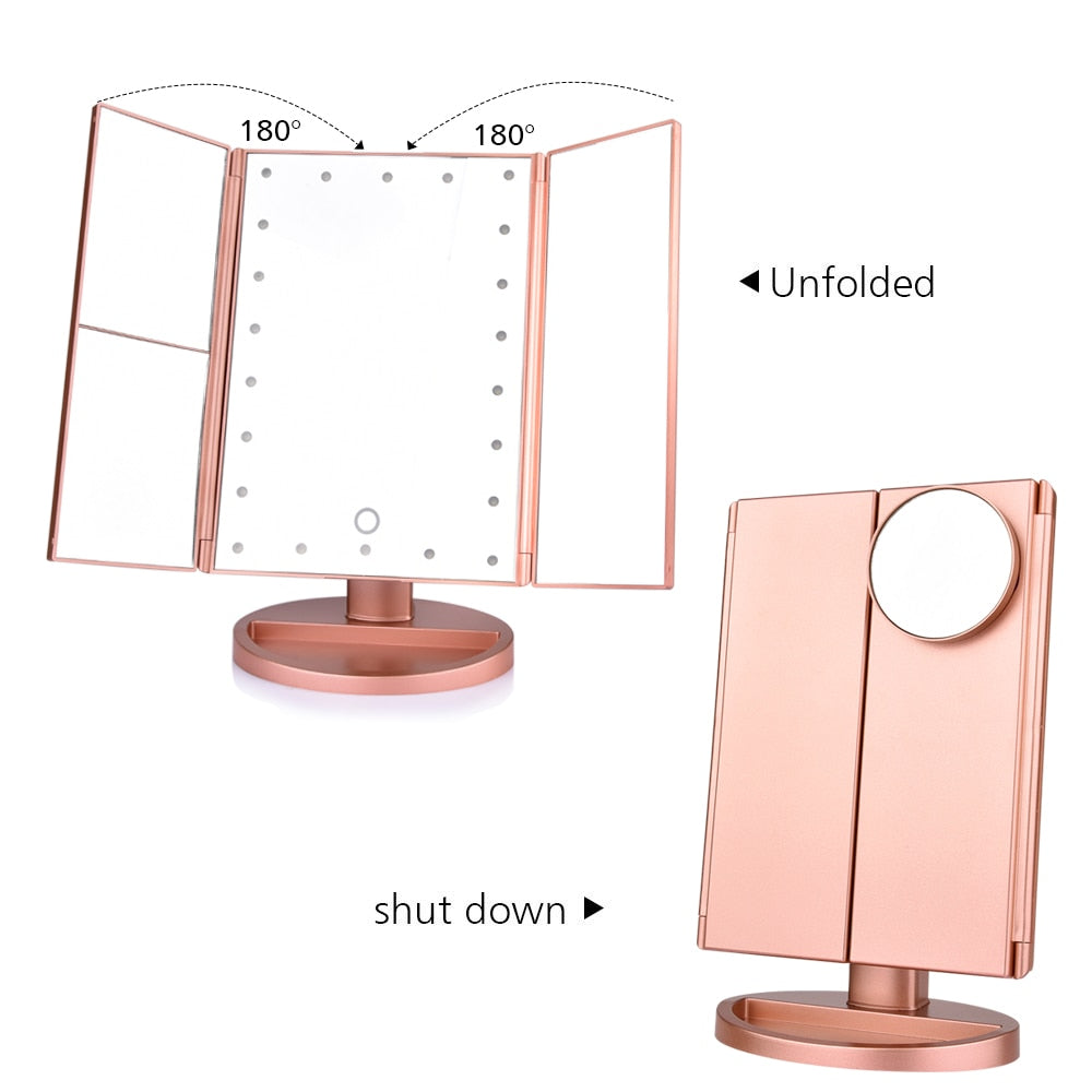 Trifold Adjustable Makeup Mirror
