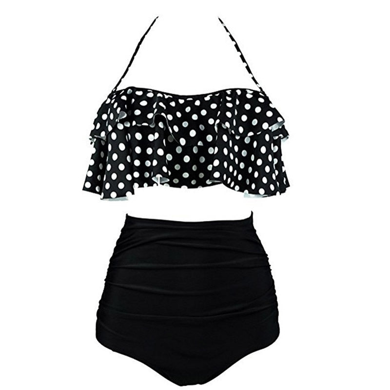 High Waist Vintage Bathing Suit