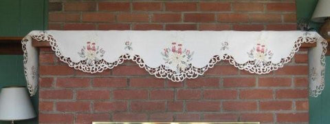 Valance-Burgundy Candle M-H7563-27