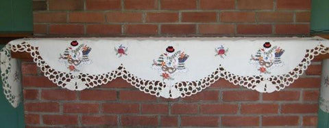 Mantle Scarf-Snowman With Bells M-H7415-26