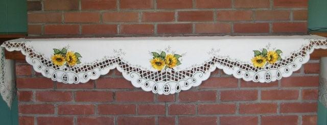 Mantle Scarf -Sunflower with cutwork M-G3824-26