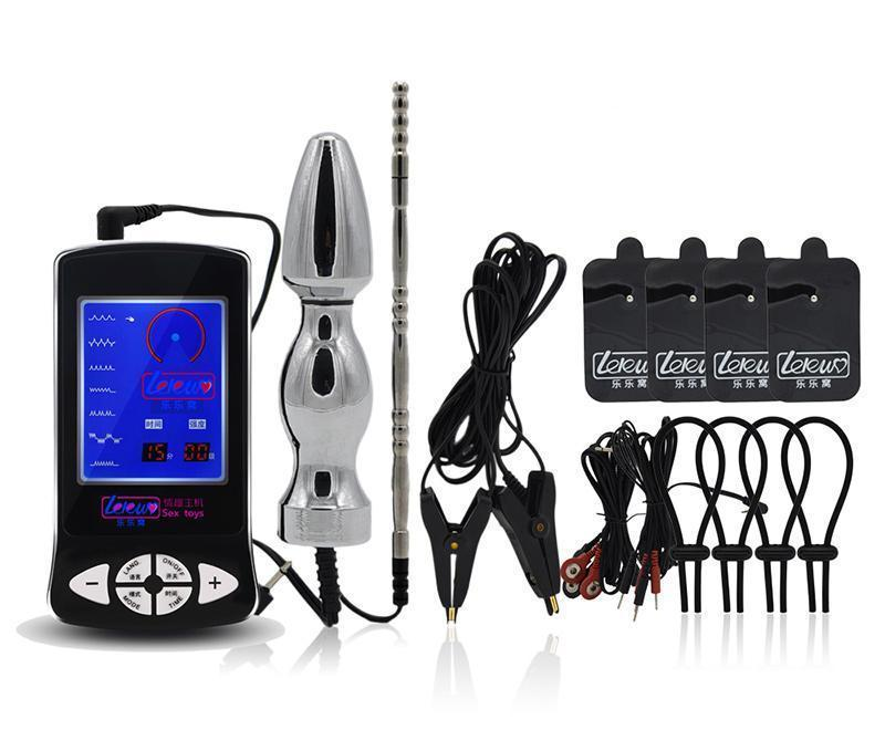 Bondage Electronic Shock Cock Ring Anal Plug Stimulation Erection | 2EO.World - 2EO.World