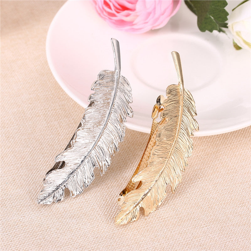The Essentials 2 PCS Leaf / Feather Shaped Hair Clip Pin Claw | 2EO.World - 2EO.World