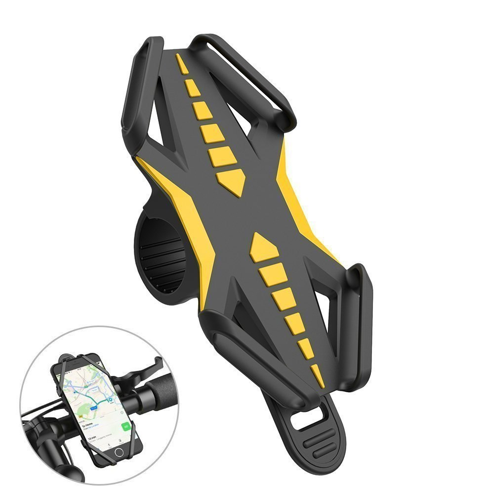 Phone Holder Anti-Slip Silicone Bicycle Bike Motorcycle Handlebar MTB Stand Mount | 2EO.World - 2EO.World