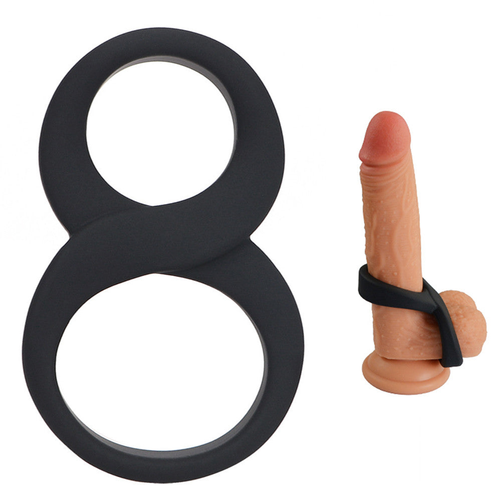 Cock Ring Stretchy Dual Stimulation C Ring Enhancer Time Delay Magic 8 Design | 2EO.World - 2EO.World