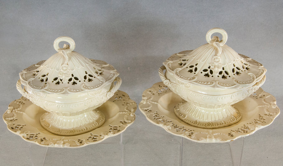 English Creamware Pottery, not a dust collector, you can use it too.