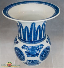 An Antique Chinese Export Underglaze Blue And White Fitzhugh Vase C1810