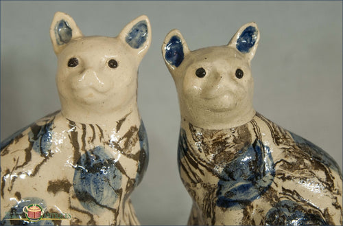 A Pair Of Agate Cats