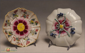A Pair Of Antique Chinese Export famille rose Lotus Saucers Yongzheng C1735