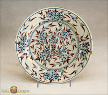 An Antique London Delft tin Glazed  Polychrome Decorated Mimosa Plate C1740