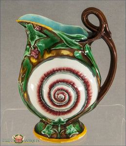 An Antique English Wedgwood Majolica Pitcher 1870