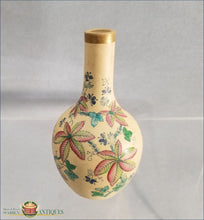 An Antique Caneware polychrome enamel decorated miniature jug c1810-1820