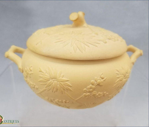An Antique caneware sugar box and cover, impressed Wedgwood mark, c1810-15