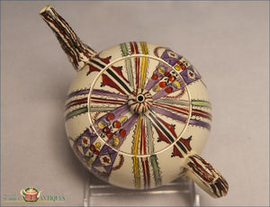 An English Creamware Chintz Teapot C1770-80 Archive