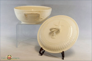 An Antique English Creamware Covered Vegetable Dish C1780-90 18Th Century Pottery