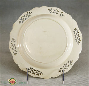An English Creamware Dessert Plate With Pierced Open Work And Moulded Border C1780-90 18Th Century
