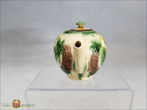An English Creamware Staffordshire Basket And Pineapple Teapot Cover C1765 18Th Century Pottery