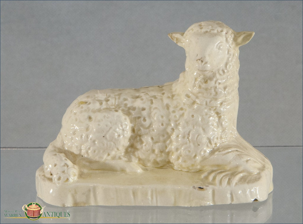 An English Creamware Staffordshire Sheep C1780-90 18Th Century Pottery