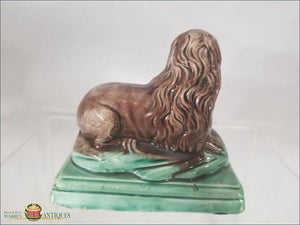 An English Pearlware Lion In Pratt Colors Attributed To Ralph Wood Ii C1789-1799 Pre 1840