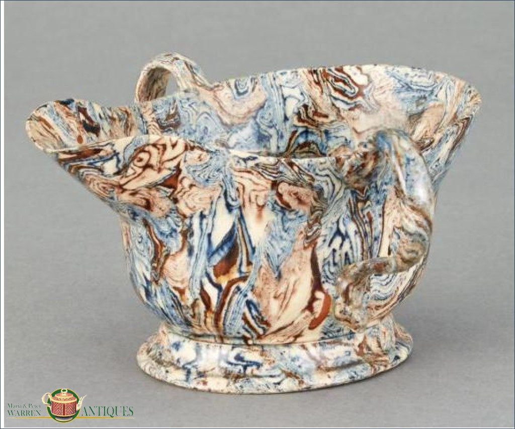 An English Solid Body Agate Double Handled Sauce Boat C1750-60 Agate