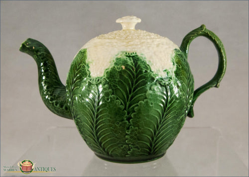 An English Staffordshire Creamware Cauliflower Teapot And Cover C1770-80 18Th Century Pottery