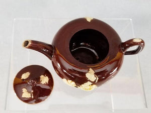 An English Staffordshire Glazed Redware Teapot And Cover C1740-50 18Th Century Pottery