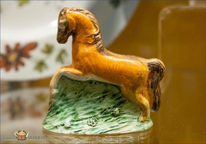 An English Staffordshire Horse Decorated In Underglaze Pratt Colors C1780-90 18Th Century Pottery