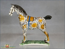An English Staffordshire Horse Decorated In Underglazed Polychrome Enamel C1780-90 Pre 1840 Figures