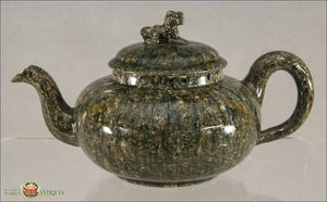 An English Staffordshire Solid Body Agate Teapot And Cover C1750-60 Agate