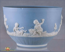 Blue Wedgwood Jasperware Waste Bowl 19Th Century English Pottery