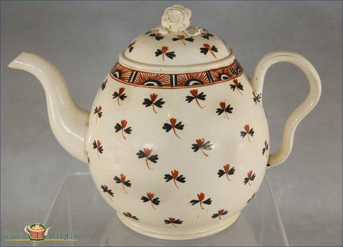 English Creamware Teapot Creamware