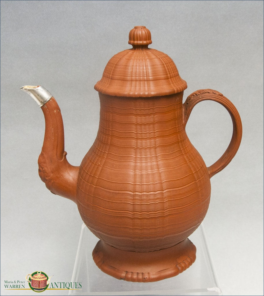 https://warrenantiques.com/products/english-redware-stoneware-engine-turned-coffee-pot-and-cover-c1750
