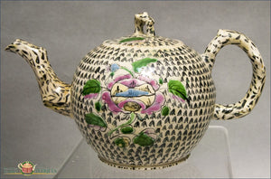 English Saltglaze Polychrome Teapot With Rose Decoration Recent Acquisitions