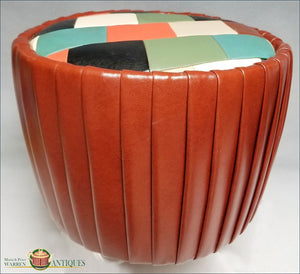 https://warrenantiques.com/products/mid-century-modern-hassock-simulated-leather-c-1950