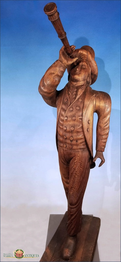 Rare Wooden Carved Nautical Figure Decorative Arts