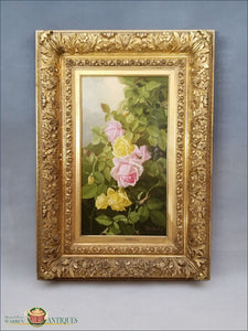 https://warrenantiques.com/products/still-life-of-yellow-and-pink-roses-edward-chalmers-leavitt-dated-1889