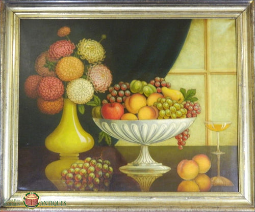 Still Life With Fruit American Unsigned C1900-1920 Painting From The 19Thc Through Today