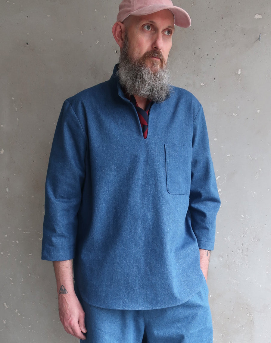 Studio smock denim