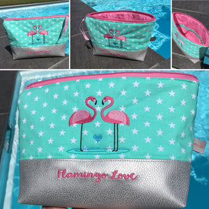 "Kosmetiktasche "" Flamingo Love"""