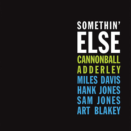 Adderley, Cannonball - Somethin' Else
