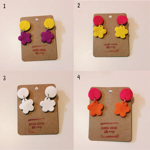 Polymer Clay Earrings: Flower Power