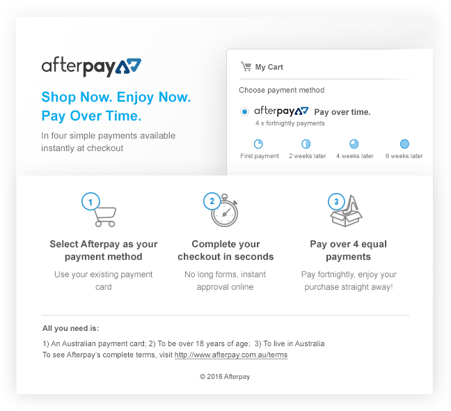 AFTERPAY | SHOP NOW. TAKE NOW. PAY IT IN 4.
