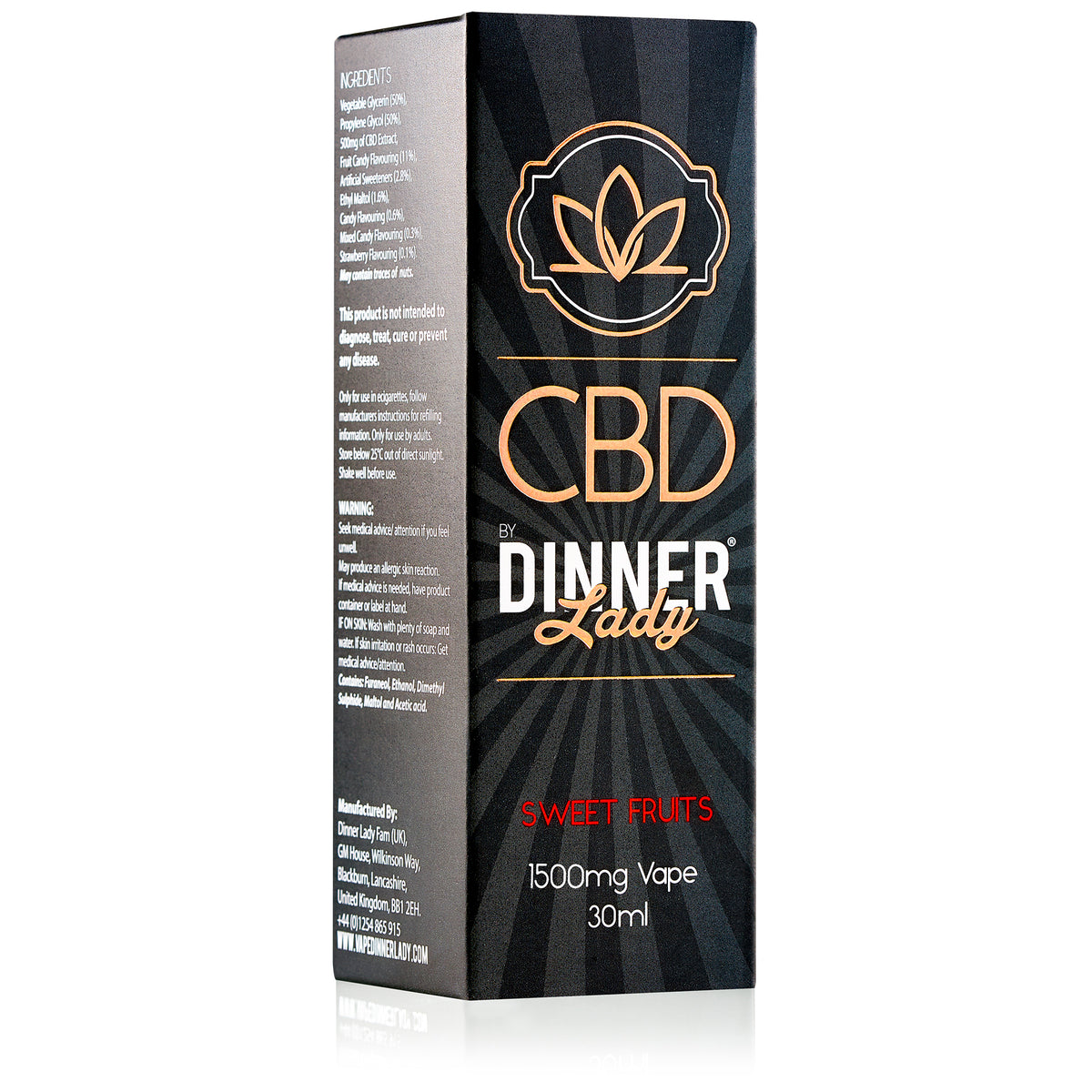 DINNER LADY CBD - SWEET FRUITS VAPE 30ML