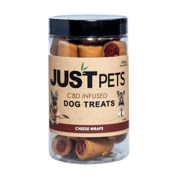 JUST CBD - CHEESE WRAP DOG TREATS JAR 100MG