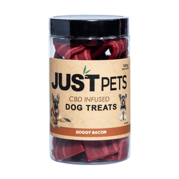 JUST CBD - DOGGIE BACON DOG TREATS JAR 100MG