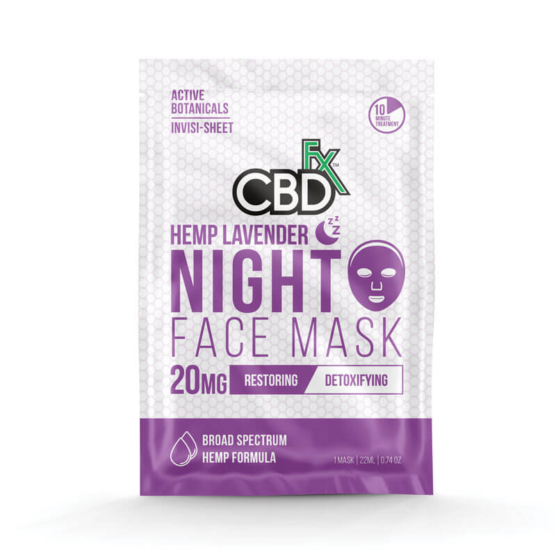 CBDfx | CBD Lavender Night Time Face Mask - 20MG