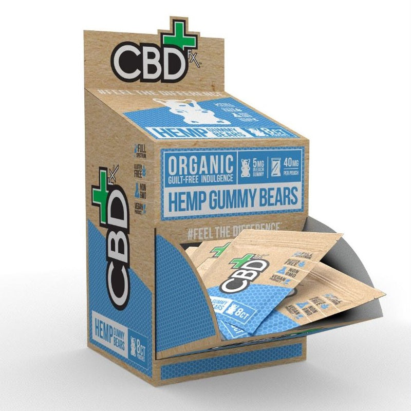 CBD FX - HEMP ANTIOXIDANT GUMMY BEARS 10MG 8CT POUCH 30CT DISPLAY