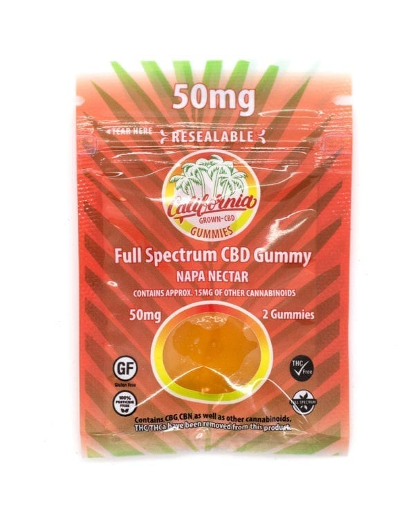 CALIFORNIA GROWN - CBD GUMMIES 2CT 50MG